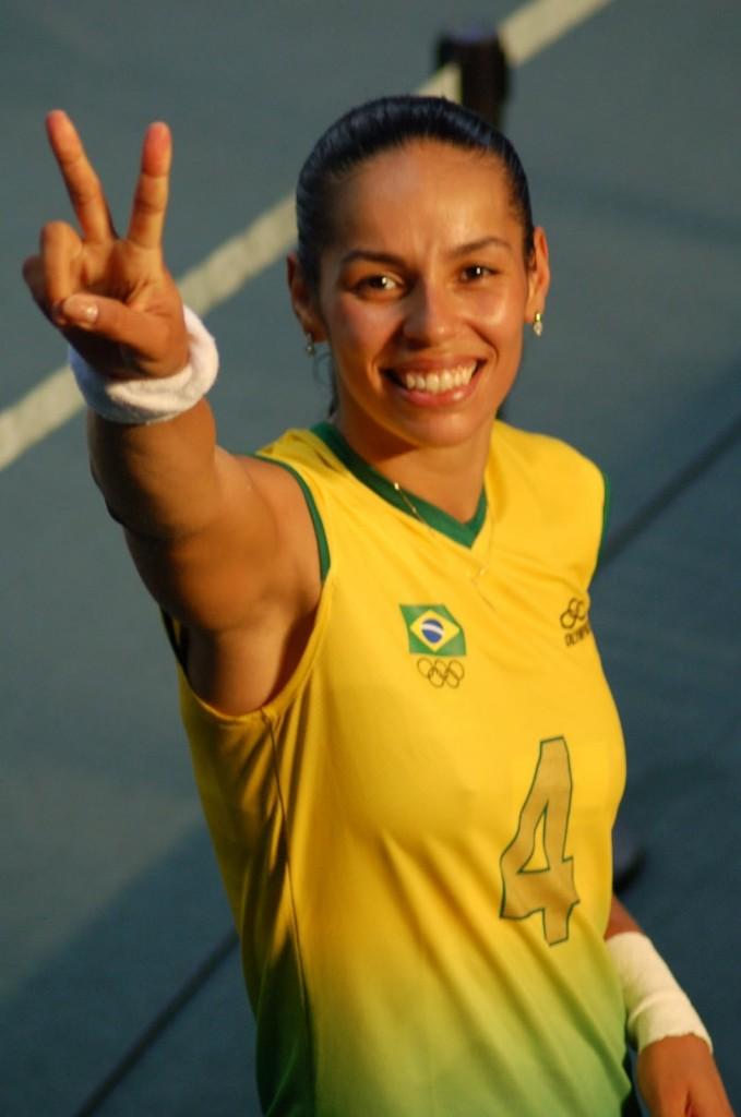 brazil volleyball player gallery  paula pequeno tattoo