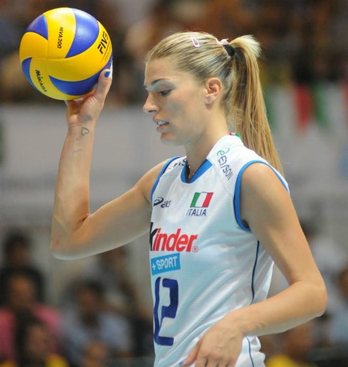 With Volleyball player francesca piccinini matchless