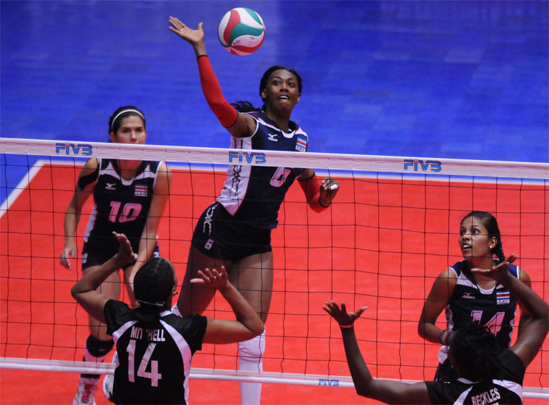 costa rica volleyball Dominican Rep. To London