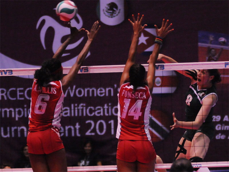 norceca volleyball Dominican Rep. To London