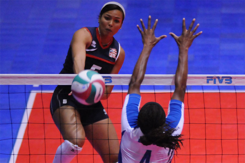 puerto rico volleyball Dominican Rep. To London
