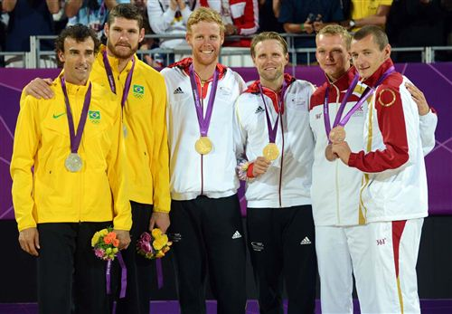 Julius Brink and Jonas Reckermann Olympic Gold 2012 Olympics Beach Volleyball