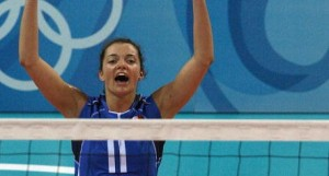 Italy's Serena Ortolani celebrates with