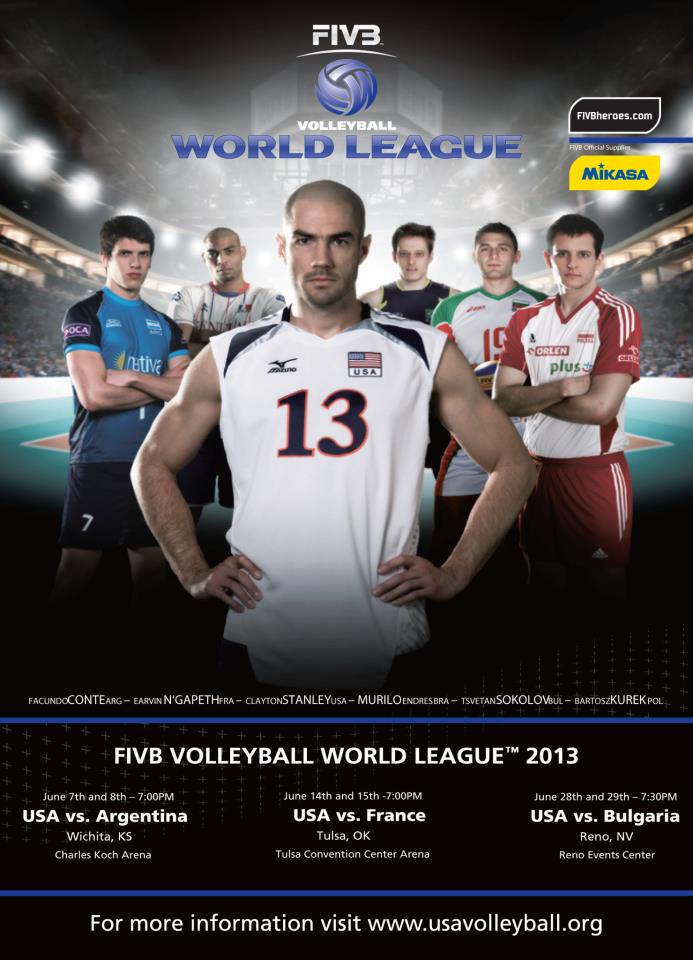2013 fivb world league poster3 2013 FIVB World League