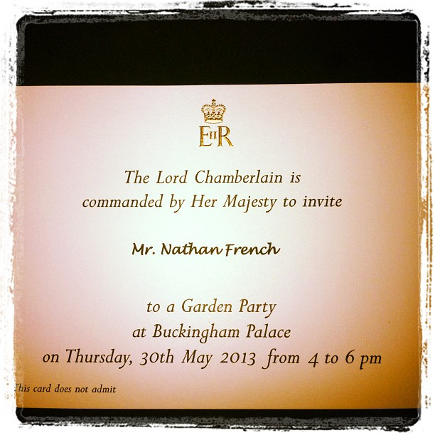 Royal Family Invites Team GB Players – Royal Garden Party Invitation