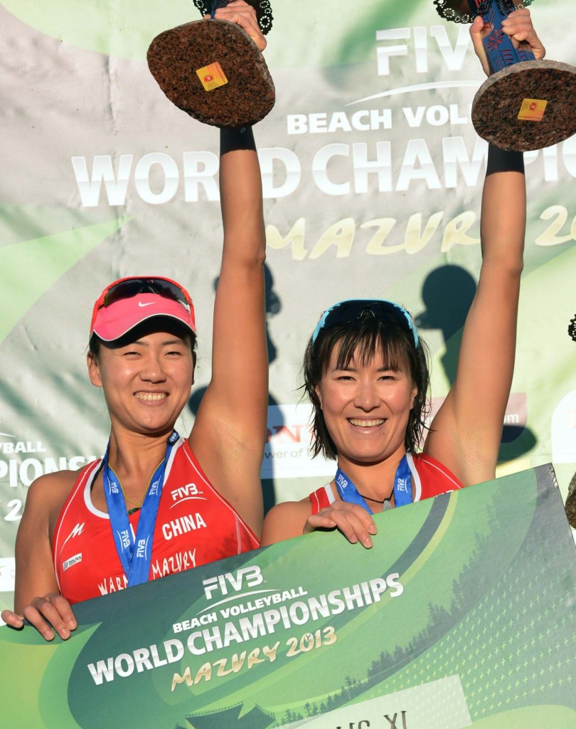 Chen Xue and Zhang Xi 810x1024 2013 Beach Volleyball World Championships