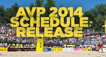 AVP pro beach volleyball tour announces 2014 schedule
