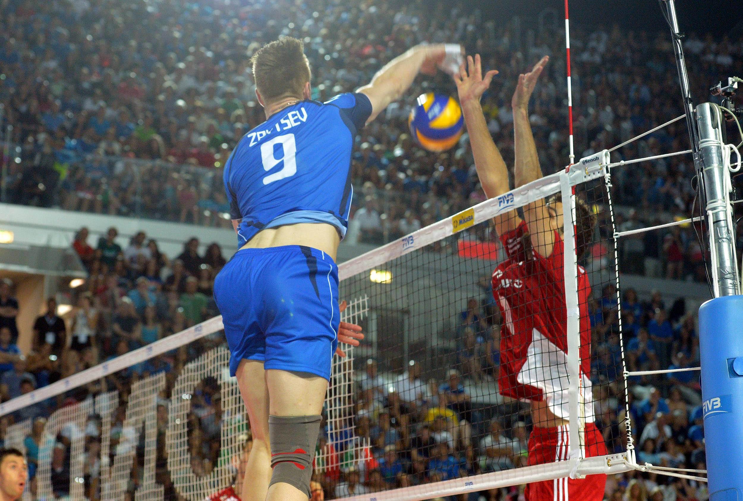 Italy S Ivan Zaytsev Attacks Volleywood
