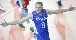 Alexey Spiridonov of Russia celebrates
