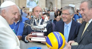 pope francis volleyball