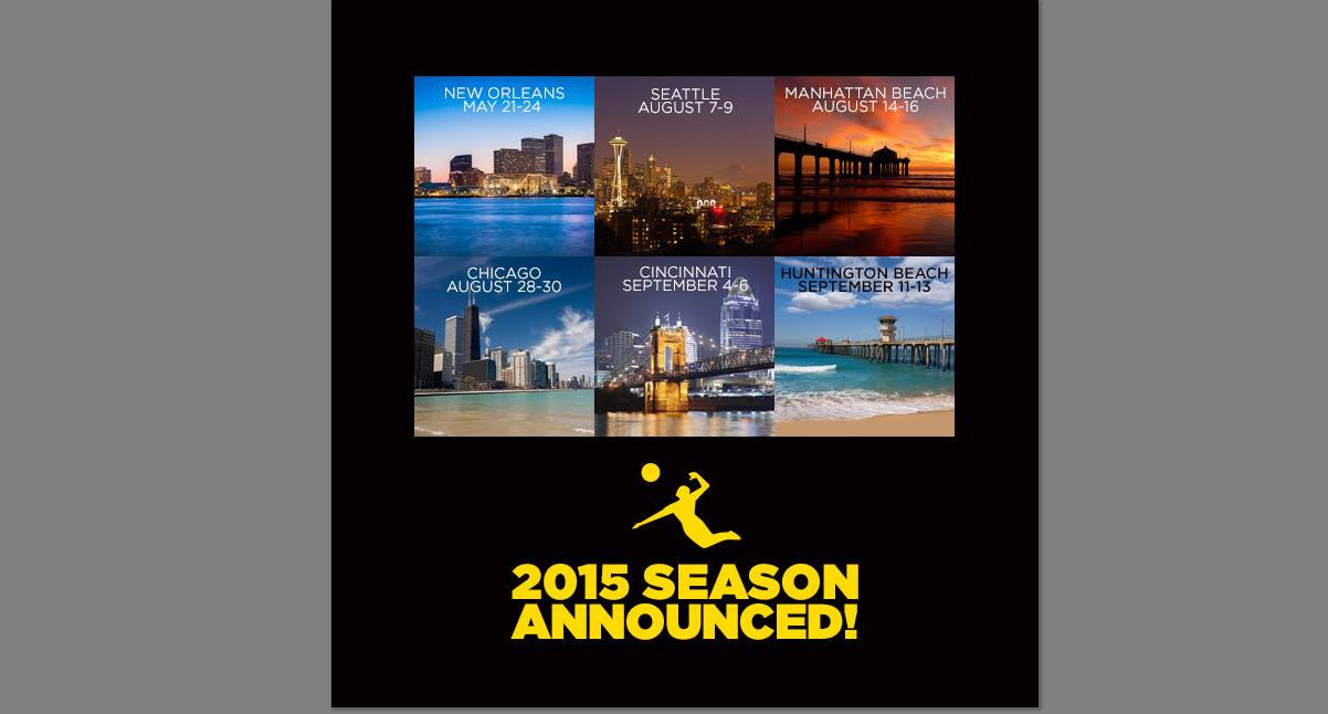 The 2015 AVP Beach Volleyball Tour Calendar