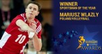mvp mariusz wlazly sportsman of the year