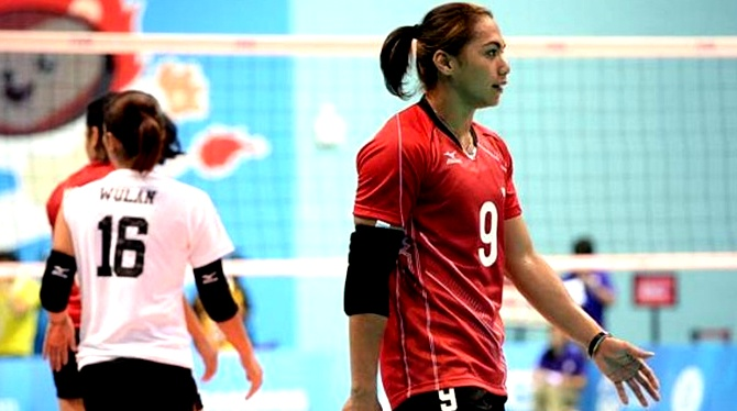 April Manganang Indonesia Volleyball Player 2