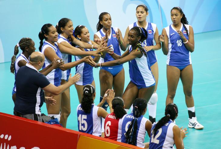 team Venezuela celebrate